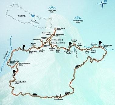 Ruby Valley Trek Map