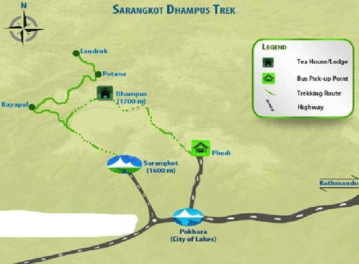 Annapurna Mini Trek Map